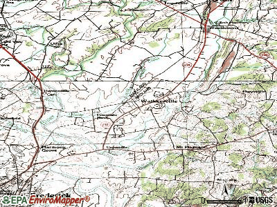 Walkersville topographic map