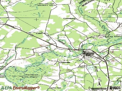 West Pocomoke topographic map