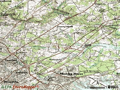 White Marsh topographic map