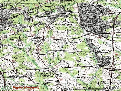 Woodmore topographic map