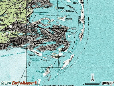 Chatham topographic map