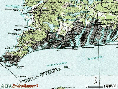 Falmouth topographic map
