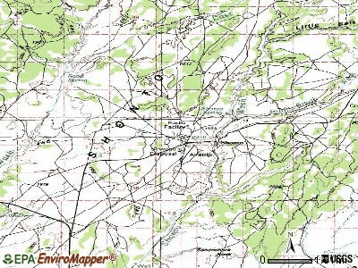 Shonto topographic map