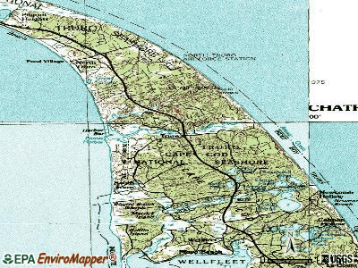 Truro topographic map