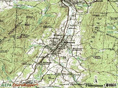 Adams topographic map