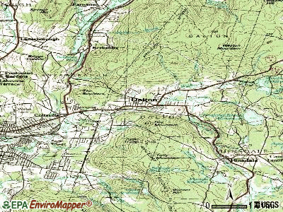 Dalton topographic map
