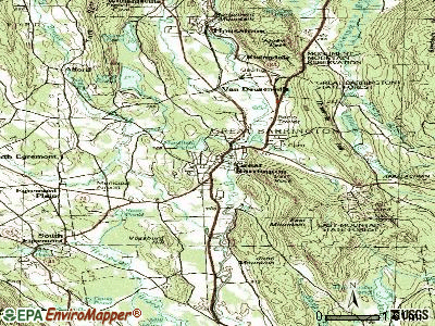 Great Barrington topographic map