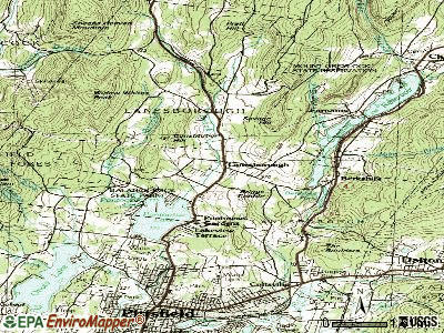 Lanesborough topographic map
