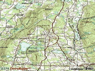 Lenox topographic map
