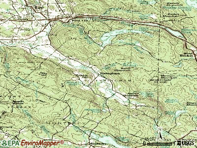 Tyringham topographic map