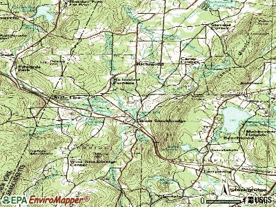 West Stockbridge topographic map