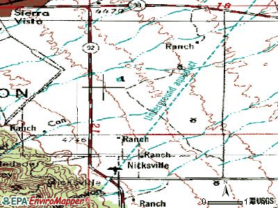 Sierra Vista Southeast topographic map