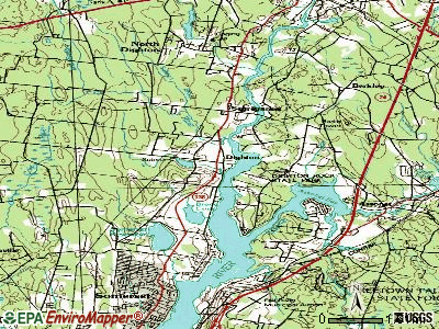 Dighton topographic map