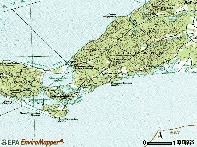 Chilmark topographic map