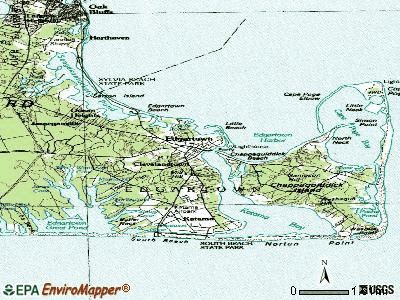 Edgartown topographic map