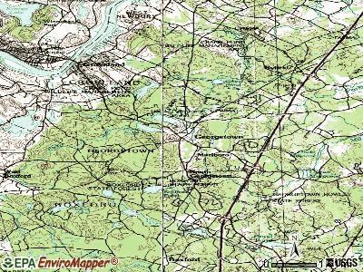Georgetown topographic map