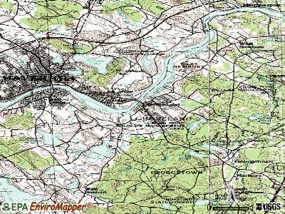 Groveland topographic map