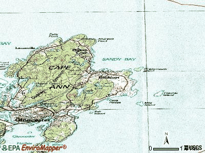 Rockport topographic map