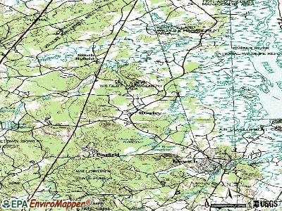 Rowley topographic map