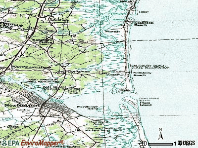 Saugus topographic map
