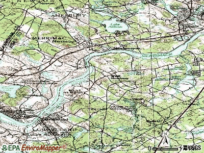 West Newbury topographic map