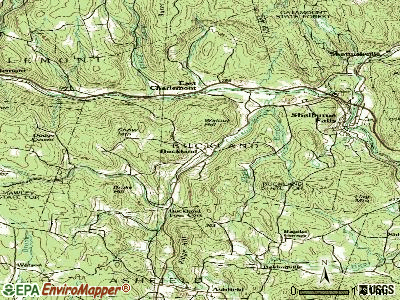 Buckland topographic map