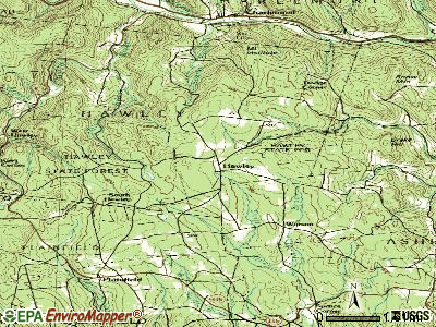 Hawley topographic map