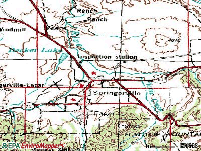 Springerville topographic map