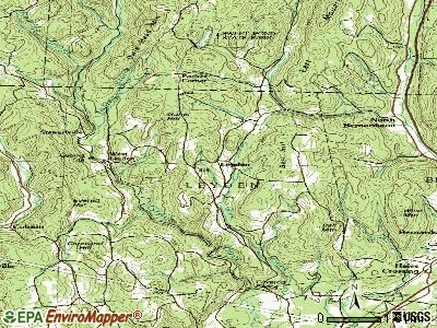 Leyden topographic map