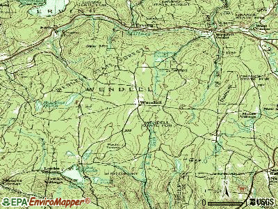 Wendell topographic map