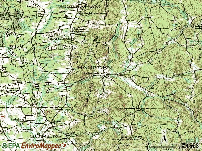 Hampden topographic map
