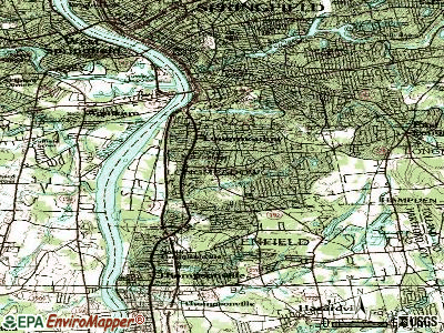 Longmeadow topographic map