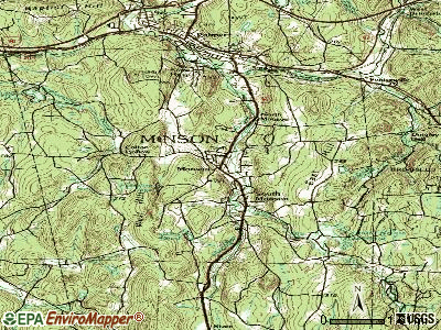 Monson topographic map