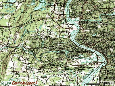 West Springfield topographic map