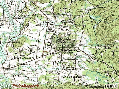 Amherst topographic map