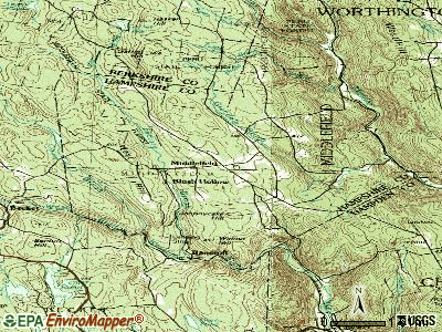Middlefield topographic map