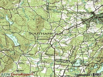 Southampton topographic map