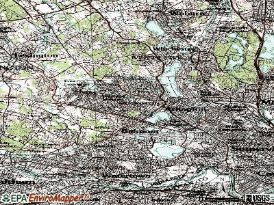 Arlington topographic map