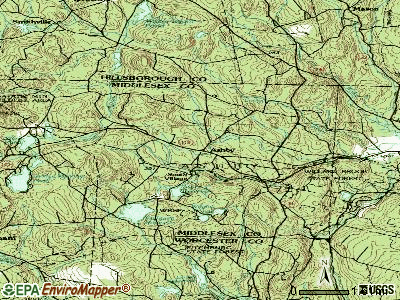 Ashby topographic map