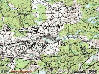 Ayer topographic map