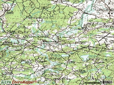 Concord topographic map