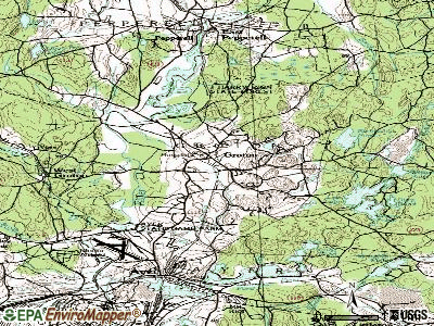 Framingham topographic map