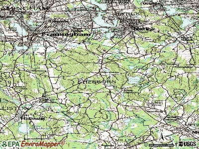 Sherborn topographic map
