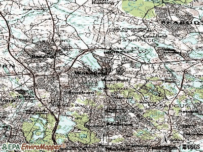 Wakefield topographic map