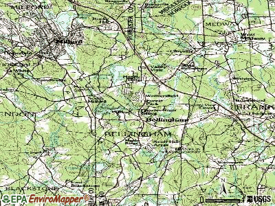 Bellingham topographic map