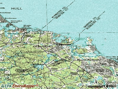 Cohasset topographic map