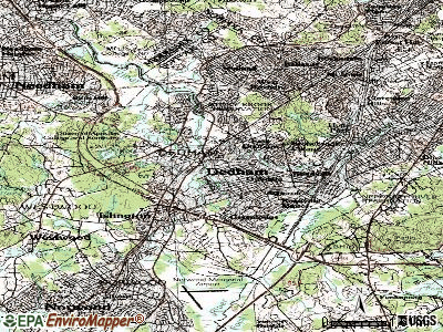 Dedham topographic map