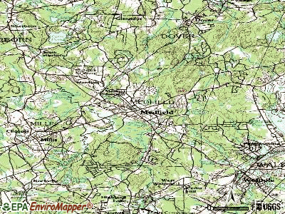 Medfield topographic map