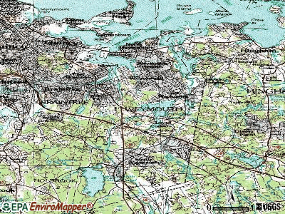 Wrentham topographic map