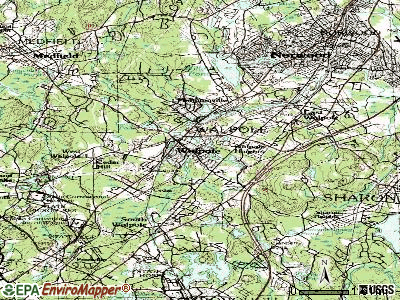 Carver topographic map